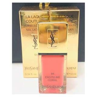 Ysl La Laque Couture Nail Polish 94 Excite Me Coral