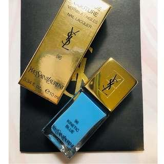 YSL La Laque Couture 96 Kinetic Blue 指甲油