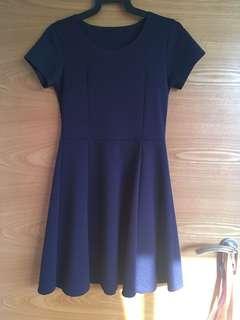 Dark Blue Skater Dress