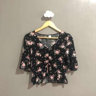 Divided by H&M drawstring blouse