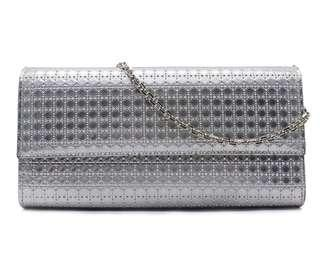 Croisiere CHRISTIAN DIOR Chain Wallet Micro Cannage Perforated Calfskin