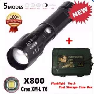 🔥SUPER BRIGHT CREE XM-L T6 Torchlight🔥