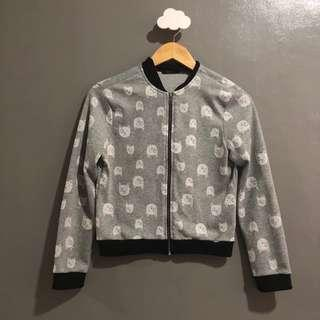 Blush Teen's gray cat print jacket