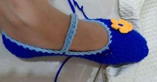 Crochet mary jane socks