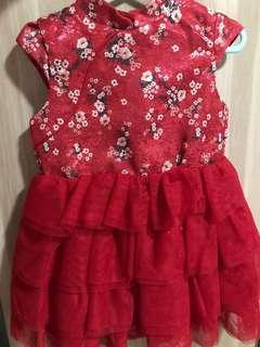 🚚 Red Chinese New Year Dress