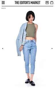 bnwt tem the editors market graham high waisted jeans