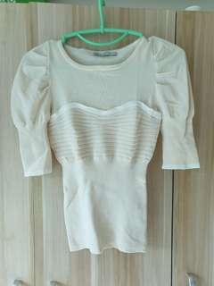 Authentic Karen Millen beige knit top