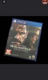 Metal gear solid 5 ground zero (sell or trade)