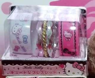 日本限定Sanrio Hello Kitty手鐲精美套裝