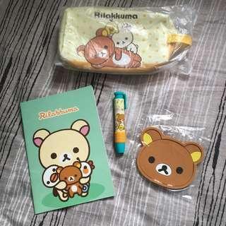 全新4件鬆弛熊 Rilakkuma產品