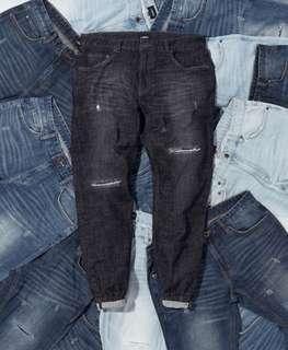 lakh jeans jogger plants 牛仔褲