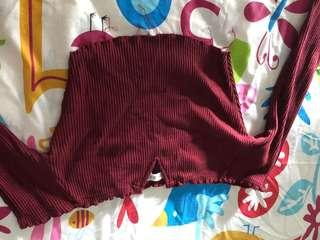 Cotton on crop top maroon