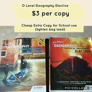 O Level Geography Elective Textbooks & Notes
