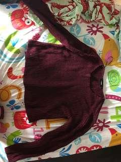 Knitwear maroon sweater