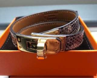 8086731e33 Hermes Bracelet Kelly Double Tour Ombré Goldhardware