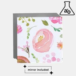 🚚 Floral Watercolour Design Empty Cosmetic Palette Custom Makeup Eyeshadow Magnetic a2o