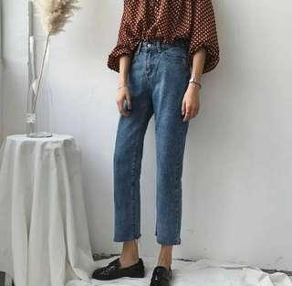🎠 Crop Denim Jeans
