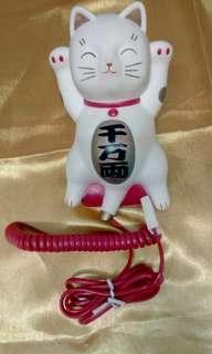 招財貓擺設電話
