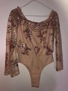 Size 8 aus ladies rose gold bodysuit