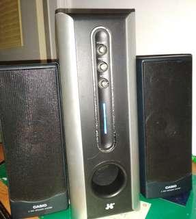 Brand multimedia speaker combination