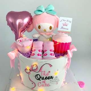 🚚 Ready stock! My Melody Baby Diapers Cake