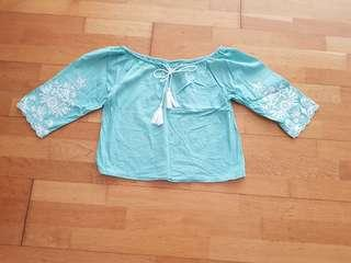 Somerset Bay Lace Sleeved Top