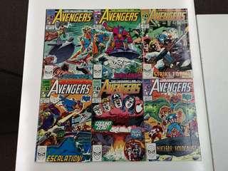 Avengers The Crossing Line (1963 1st Series) Comics Set