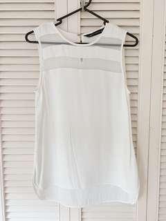 Zara white top S