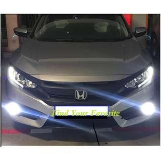 Honda Civic FC model on H8/H11 (both same fitting) CSP Y19 LED foglight 6500k super white for cash&carry only NO installation