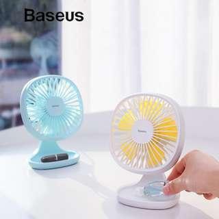 [Baseus]Baseus Electric Mini Fan Portable Ventiladors USB Mijia Fan Ultra Quiet Summer Cooler 5 Blades Deskt