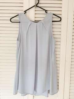 Cue light grey/blue top XS