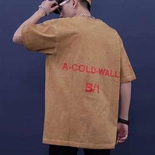 🚚 A.C.W a cold wall khaki dye wash oversize tee