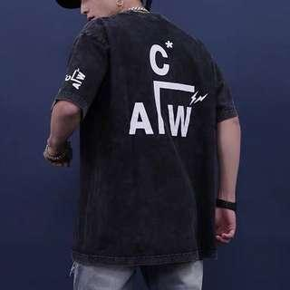 🚚 A.C.W. A cold wall frag acid wash oversize tee