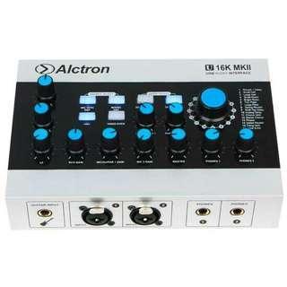 Alctron MKII soundcard usb audio recording