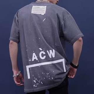 🚚 A.C.W. A cold wall classic paint splash oversize tee