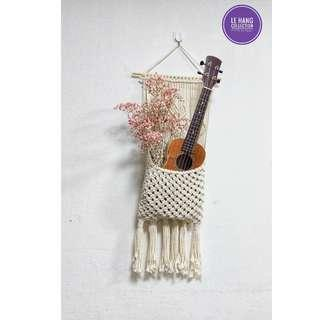 🎸📚💐Macrame ukulele holder/ Macrame book holder/ Macrame kindle holder/ Macrame flowers holder/ Macrame wall hanging🎸📚💐