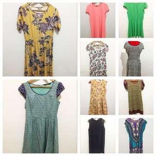 One Lot of 10 dresses