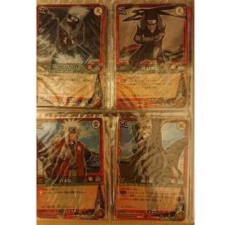 Naruto card game 火影忍者卡 金字,閃卡