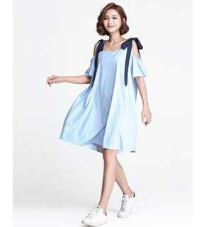 Loose Cut Blue Striped Dress (Suitable for Maternity too)
