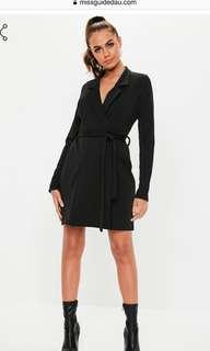 Misguided Black Blazer Dress