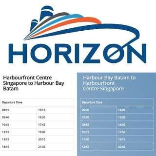 2 way Horizon ferry ticket (ALL IN)
