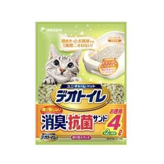 全新 Unicharm 沸石貓砂4L
