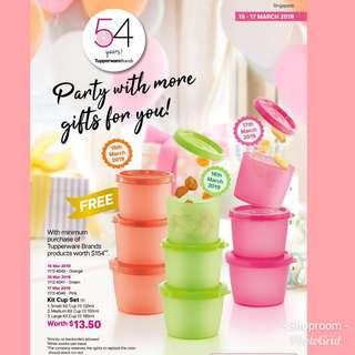 BN Tupperware Kit Cup Set (3 pc set)