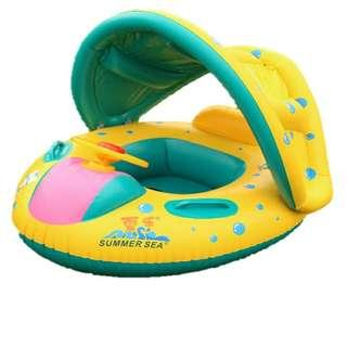 Sun Shade Baby Child Swimming Pool Float Ring Water Boat