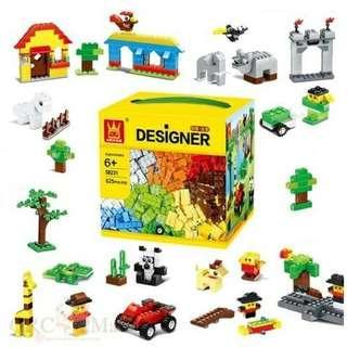 625 Pieces Toys Bricks Building Blocks Toy