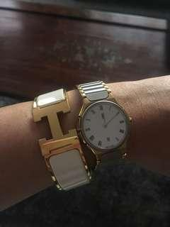 Authentic Ysl yves saint laurent two tone watch
