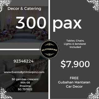 Wedding deco & catering package