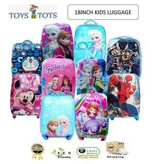 18 Inch Kid 4 Wheels Luggage Children Travel Trolley Suitcase