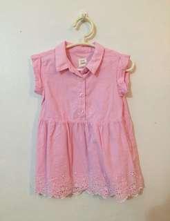 12-18mo Gap Eyelet Shirt Dress