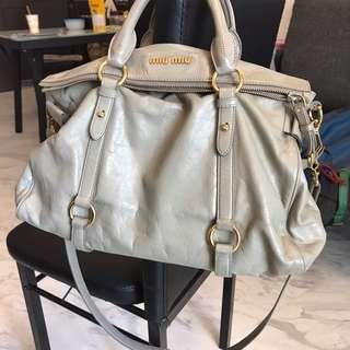 fb2f301cccd5 Authentic Miu Miu Vitello Lux Large Bow Bag